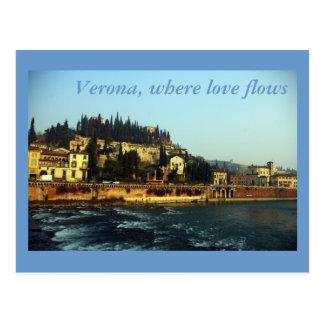 Postal Verona, adonde fluye el amor
