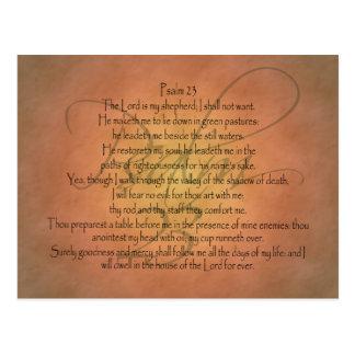 Postal Verso cristiano de la biblia del salmo 23 KJV