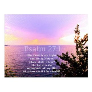 Postal VERSO INSPIRADO de la BIBLIA del 27:1 del salmo
