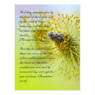 Postal Versos de la biblia, tiempo de primavera