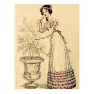 Postal Vestido de bola de la regencia de Jane Austen