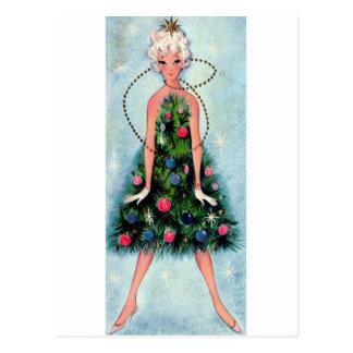 Postal Vestido del árbol de navidad