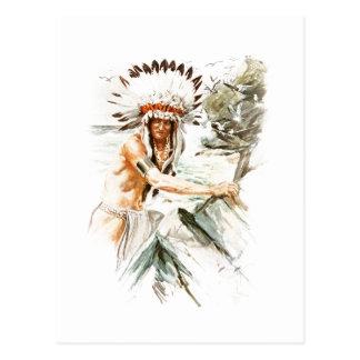 Postal Vestido principal indio 2 de Hiawatha de la