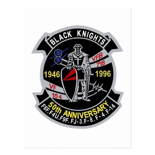 Postal VF-154 aniversario de los caballeros negros 50