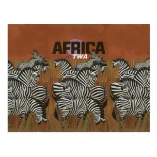 Postal Viaje auténtico de África del poster del vintage