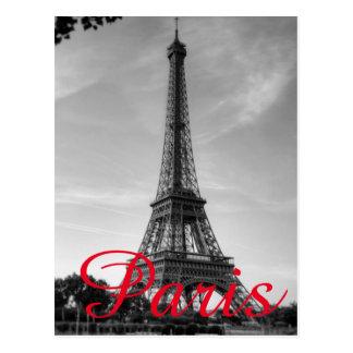 Postal Viaje blanco negro de la ciudad del amor de París