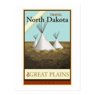 Postal Viaje Dakota del Norte