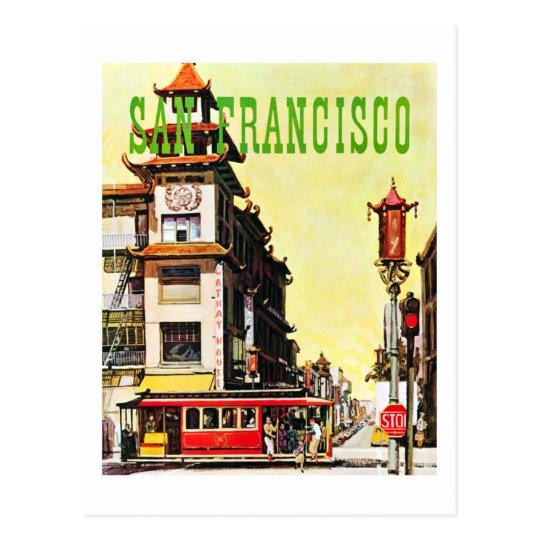 Postal Viaje de Chinatown San Francisco del vintage