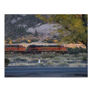 Postal viaje de los trenes del tren