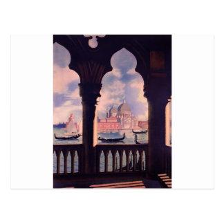 Postal Viaje de Venecia Italia del vintage