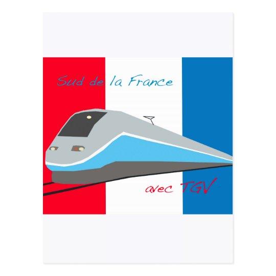 Postal Viaje del tren de alta velocidad