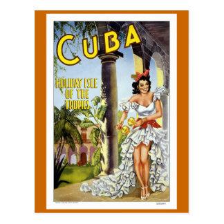 Postal Viaje del vintage de Cuba