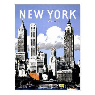 Postal Viaje del vintage de Nueva York