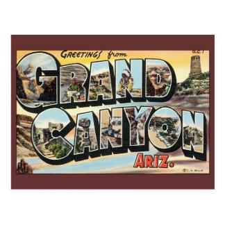 Postal Viaje del vintage, Gran Cañón, cambio de dirección