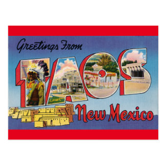 Postal Viaje del vintage - TAOS, NEW MÉXICO