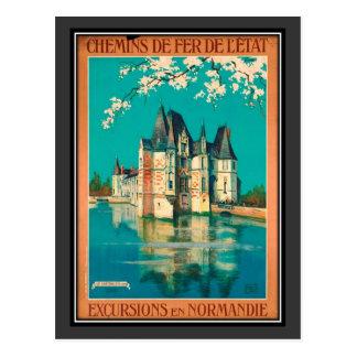 Postal Viaje Francia, Normandía del vintage -