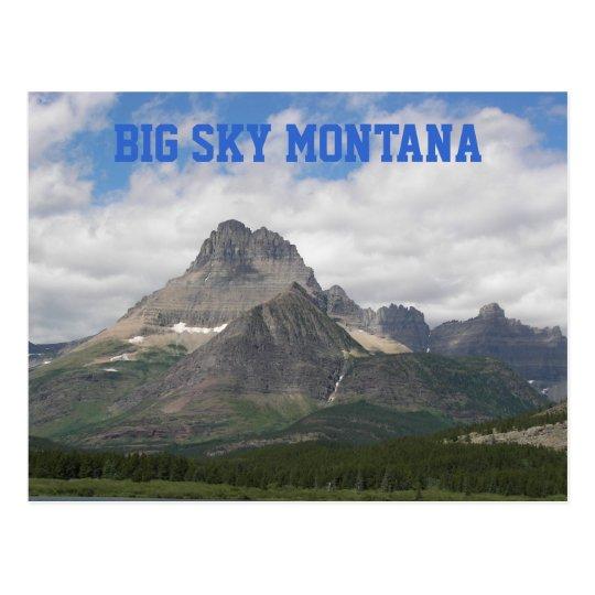 Postal Viaje grande de Montana del cielo