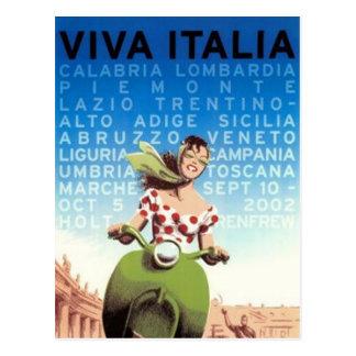 Postal Viaje Italia del vintage -