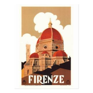 Postal Viaje Italia, Florencia del vintage -
