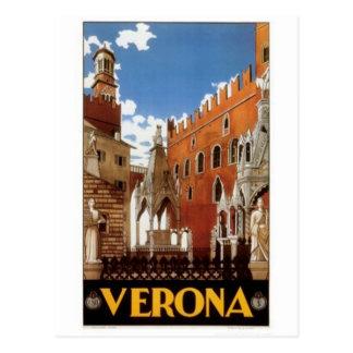 Postal Viaje Italia, Verona del vintage -