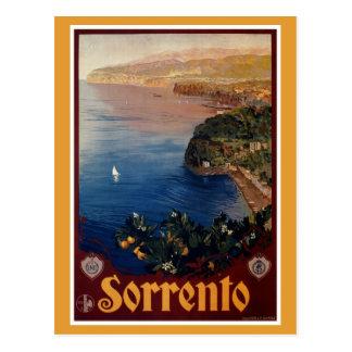 Postal Viaje italiano de Sorrento de los años 20 del