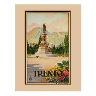Postal Viaje italiano de Trento Trent del vintage