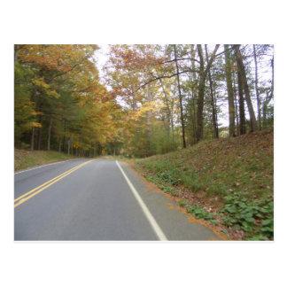 Postal viaje por carretera en la caída Pennsylvania