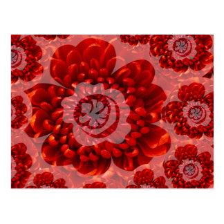 Postal Viaje rojo de la flor - mundo de la adoración de