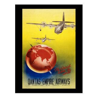 Postal Vías aéreas del imperio de Qantas