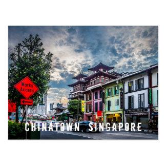 Postal vibrante y colorida de Singapur Chinatown