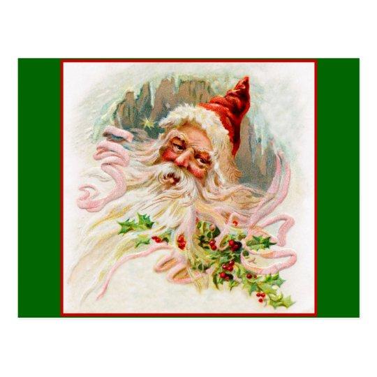 Postal Victorian rosado Santa