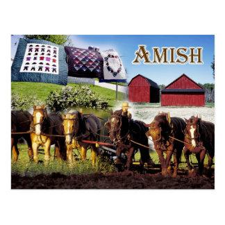 Postal Vida de Amish en Lancaster, Pennsylvania