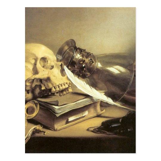 Postal Vida de Pieter Claesz todavía Vanitas