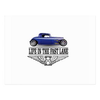 Postal vida en el carril rápido