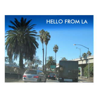 Postal Vida en la autopista sin peaje de Los Ángeles