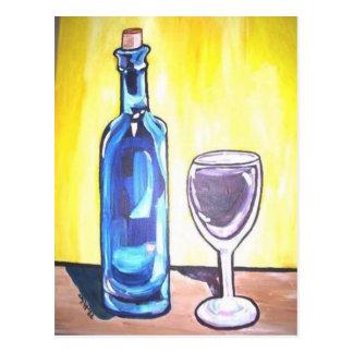 Postal vidrio de vino