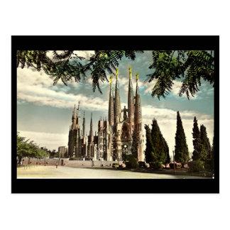 Postal vieja, Barcelona, Sagrada Familia