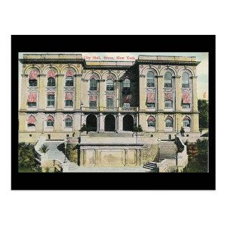 Postal vieja - Bronx, ayuntamiento, 1913