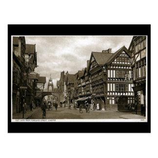 Postal vieja - calle de Foregate, Chester