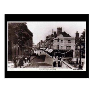 Postal vieja, calle principal, Bedford, en 1918