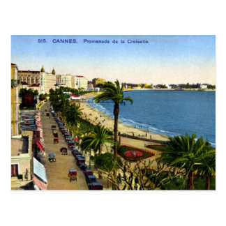 Postal vieja - Cannes La Croisette