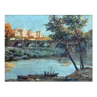 Postal vieja - Carcasona, Aude, Francia