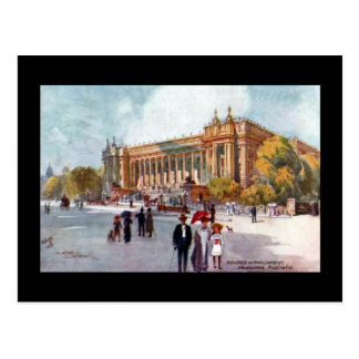 Postal vieja - casas del parlamento, Melbourne