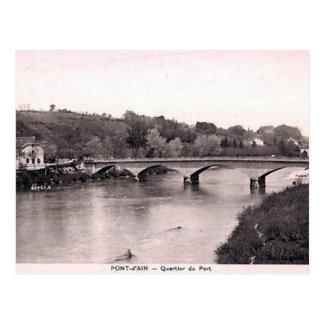 Postal vieja - d'Ain de Pont, Ain, Francia