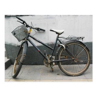 Postal vieja de la bicicleta