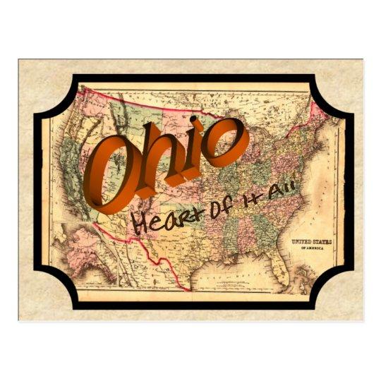 Postal vieja de Ohio del vintage