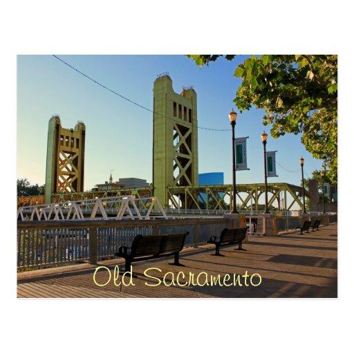 Postal vieja de Sacramento