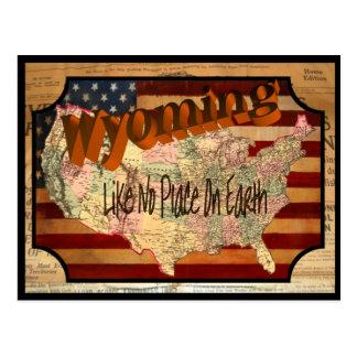 Postal vieja de Wyoming del vintage