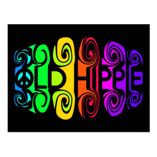 Postal VIEJA del HIPPIE, personalizar