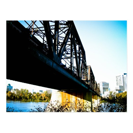Postal vieja del puente del tren